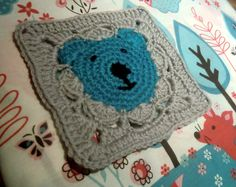 Crochet - these squares would make an adorable baby blanket