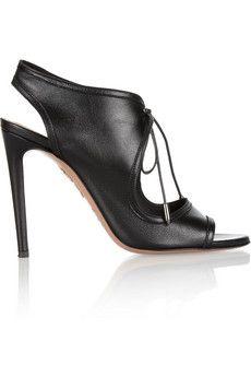 Aquazzura Chelsea lace-up leather sandals | NET-A-PORTER