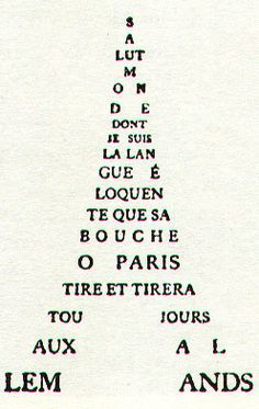 La Tour Eiffel, par Guillaume Apollinaire Linguistics Major, Safe Search, Writing Courses, I Am A Writer, Paul Klee, Typography, Lettering, Travel Themes, Learn French