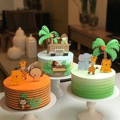 Safari Birthday Cakes, Boys 1st Birthday Cake, Jungle Theme Birthday, Safari Cakes, Safari Theme Party, Wild One Birthday Party, 1st Birthday Parties, Birthday Party Decorations, Jungle Theme Cakes
