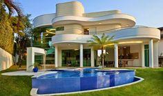 Luxury Homes cottage Style At Home, Modern Villa Design, Home Design, Modern Mansion, Dream House Plans, Exterior Design, Future House, Modern Architecture, Luxury Homes