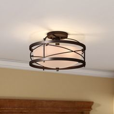 Farrier 2-Light Semi Flush Mount, Basement Entry Way, Wayfair