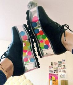 shoes weirdshoes weird be_weird be_random beyourself it_is_nice be_strange black colors ellendegeneres liked Goth Shoes, Shoes Heels, Crazy Shoes, Me Too Shoes, Japan Fashion, Platform Shoes, Shoe Game, Swagg, Cute Outfits