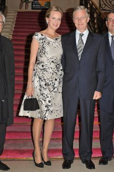 Princess Mathilde and Prince Philippe of Belgium attend the 'Liege A Paris' Concert on 31 Oct 2012