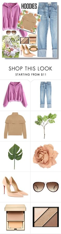 """In My Hood: Cozy Hoodies"" by malrocs-polyvore ❤ liked on Polyvore featuring WithChic, Current/Elliott, Chloé, Wyld Home, Chanel, Christian Louboutin, Tom Ford, Clarins, Elizabeth Arden and MAC Cosmetics"