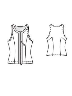 Zip-Up Tank 06/2013 #124 – Sewing Patterns | BurdaStyle.com