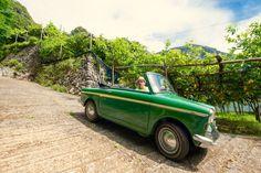 Lemon Mind — With the little #vintage #car #Bianchina between...