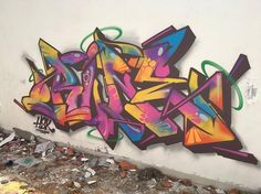 RUNE keeping it colourful Graffiti Pictures, Graffiti Wall Art, Graffiti Drawing, Graffiti Alphabet, Graffiti Styles, Graffiti Lettering, Street Art Graffiti, Graffiti Tutorial, Street Mural
