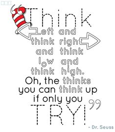 dr. seuss quote think. Published June 20, 2013 at ...