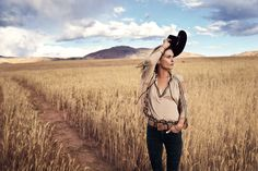 Free People Eden Top, Brooklyn Hat Co. Rolling Hills Rancher and Free People Suede Covered Buckle Belt