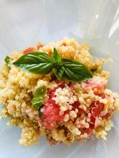 Salade de quinoa aux agrumes - Recettes de famille Brunch, Risotto, Grains, Rice, Ethnic Recipes, Food, Mint, Kitchens, Vegetarian Dish
