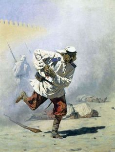 Mortally Wounded by Vasily Vereshchagin - Famous Russian Art - Handmade Oil Painting on Canvas — Canvas Paintings Russian Painting, Russian Art, The Falling Soldier, Famous Artwork, War Photography, Military Art, Oil Painting On Canvas, Love Art, Art History