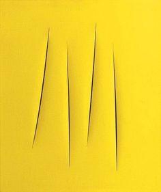 """rearte: """"Lucio Fontana - Spatial Concept, 1962 """""""