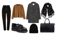 """Black mom jeans"" by ausrinebagdzeviciute on Polyvore featuring MANGO, H&M, River Island, Boohoo, Dr. Martens, Louis Vuitton and NLY Accessories"