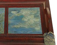 Handmade serving tray, Clouds goat screw, creative upcycle decor mode. Tray decor