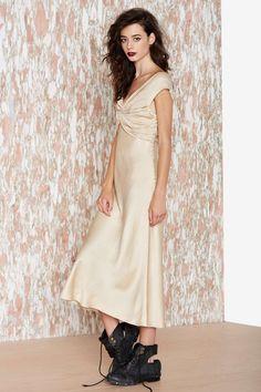 John Galliano Moonstone Silk Dress | Shop What's New at Nasty Gal