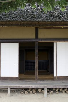 Japanese traditional folk house: Tanizaki, In Praise of Shadows on shadows in Japanese houses - 'And so it has come to be that the beauty of a Japanese room depends on the variation of shadows heavy shadows against light shadows - it has nothing else' p.29)
