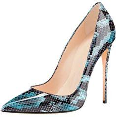4dd2399fd55bb EDEFS - Escarpins Femme - Sexy Talon Aiguille - Chaussures Club Soiree - Bout  Fermé -Python