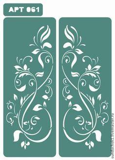Трафарет 061 - зелёный,трафарет,трафареты,материалы для творчества,Декупаж