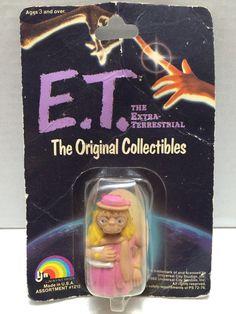 (TAS000318) - 1982 LJN E.T. The Extra Terrestrial Figure - Pink Dress