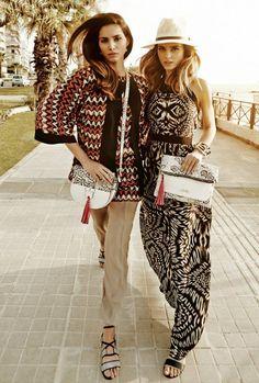 DOCA CITY ESCAPE FASHION COLLECTION SS15 Maxi dress - lose pants - kimono - flat sandals - messenger bag - clutch
