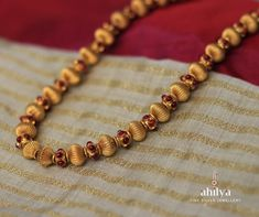 Sparkle with timeless on any occasion with this simple and on-trend Gold Plated Ruby Beads Necklace. A beautiful temple necklace to go with any silk . Gold Jewelry Simple, Gold Rings Jewelry, Silver Jewellery Indian, Gold Jewellery Design, Ruby Beads, Gold Beads, Mysore, Timeless Elegance, Sparkle