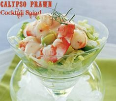 Calypso Prawn Cocktail salad. Looks like a million bucks but takes just a few minutes to assemble. #prawn #shrimp #cocktail