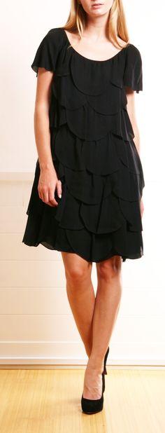 black scalloped dress // erin fetherston