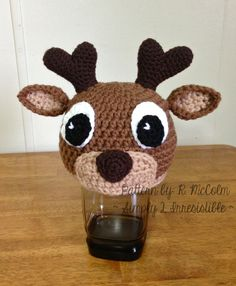 Image of Deer / Elk Crochet Hat Pattern