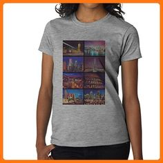 London New York Miami Las Vegas Madrid Cities Design XXL Damen T-Shirt (*Partner Link)