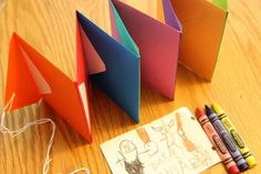 Bookmaking for Kids: Accordion Envelope Books...Love this idea! I think my four year old will love this. He is into making up stories right now, we can start compiling a collection of them to give to Papa for fathers day :)
