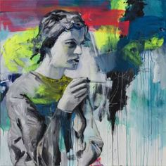 """vanessa uher;  Painting, """"What remains"""""""