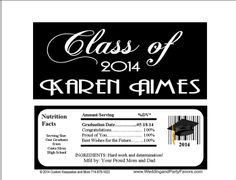 Graduation Candy Bar Wrappers Gra-1189-Wp