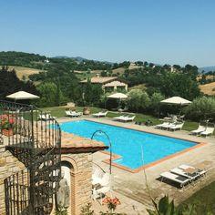 A dip in the pool at #borgocorsignano