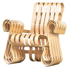 1990s Vintage Frank Gehry for Knoll International Power Play Chair | Chairish
