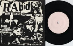 """1982 UK """"The Bloody Road To Glory"""" 7"""" """"Blank labels"""" - PPC-105 (Early release - different front cover (lists the song """"Coppers"""" instead of """"Crisis '82"""") and different back cover (no mention of Fall Out Records or catalogue number))"""