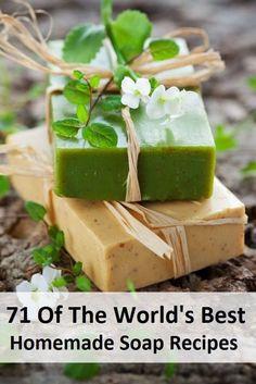 http://www.homemadehomeideas.com/71-of-the-worlds-best-homemade-soap-recipes/