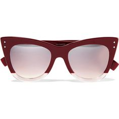 0edfac0bde2c Fendi Cat-eye two-tone acetate sunglasses (£205) ❤ liked on