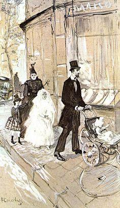 First Comunion by Henri de Toulouse-Lautrec.