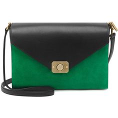 """""""Delphie Jungle Green & Midnight Blue Heavy Suede With Black Flat Calf Leather"""" found on Polyvore"""