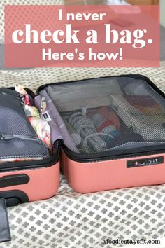 to use packing cubes + tips to travels with just a carry-on! I never check a bag! A carry-on is all I need even for long trips.I never check a bag! A carry-on is all I need even for long trips. Suitcase Packing Tips, Packing Tips For Vacation, Carry On Packing, Carry On Luggage, Packing Hacks, Vacation Deals, Kids Luggage, Packing Ideas, Cruise Tips