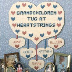 Grandparents Wall Hanging Plastic Canvas Pattern ePattern