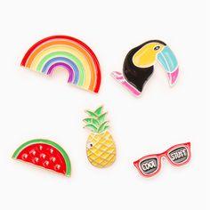 New fashion cartoon series the rainbow/watermelon/pineapple/eyes/w/eyes enamel brooch Pin badge manufacturers selling