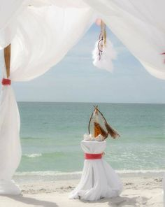 Florida beach wedding perfection from Suncoast Weddings - dream catchers make it special