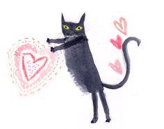 Julia Denos valentine cat