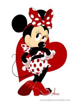 The Disney Minnie pin up star Disney Mickey Mouse, Retro Disney, Mickey Mouse E Amigos, Mickey Mouse And Friends, Minnie Mouse Party, Mouse Parties, Disney Love, Disney Magic, Disney Art
