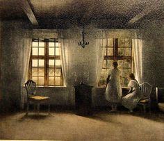 Ilsted, Peter, (1861-1933), Girls at Window