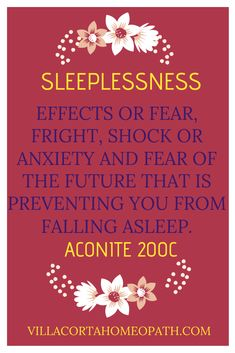 If you are suffering from the aftereffects of a shock, Aconite will help you to get you back to sleep. Natural Remedies For Insomnia, Natural Health Remedies, Homeopathy Medicine, Herbal Medicine, Alternative Health, Alternative Medicine, Stress And Mental Health, Natural Remedies
