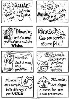 Cartões para o Dia das Mães — SÓ ESCOLA Experiment, Hidden Pictures, Happy Mom, Classroom, Journal, Lettering, Education, Kids Education, Kids Bible Activities