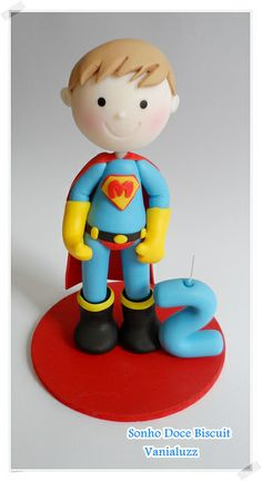 can be used on wire flying up into the clouds as an anti gravity cake Fondant Figures Tutorial, Cake Topper Tutorial, Fondant Toppers, Cake Icing, Cupcake Cakes, Marzipan, Fondant People, Superhero Cake, Cakes For Boys